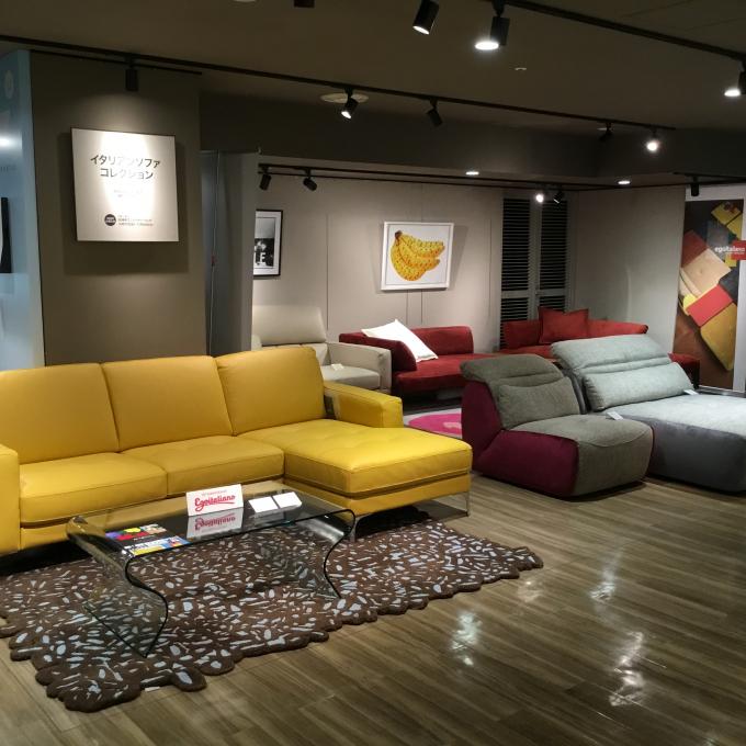 アートとゆったりソファでくつろぎ空間~イタリアソファコレクション~