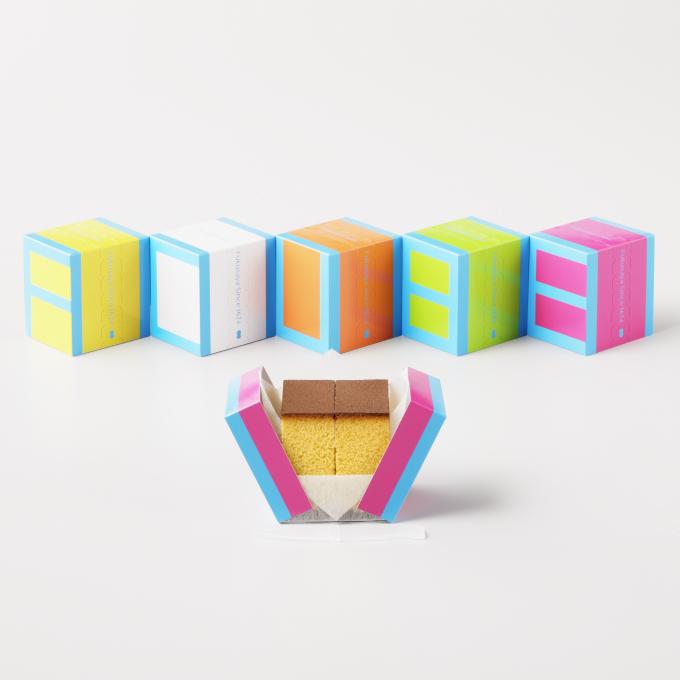 【夏のパッケージは彩鮮やか】福砂屋のキューブカステラ