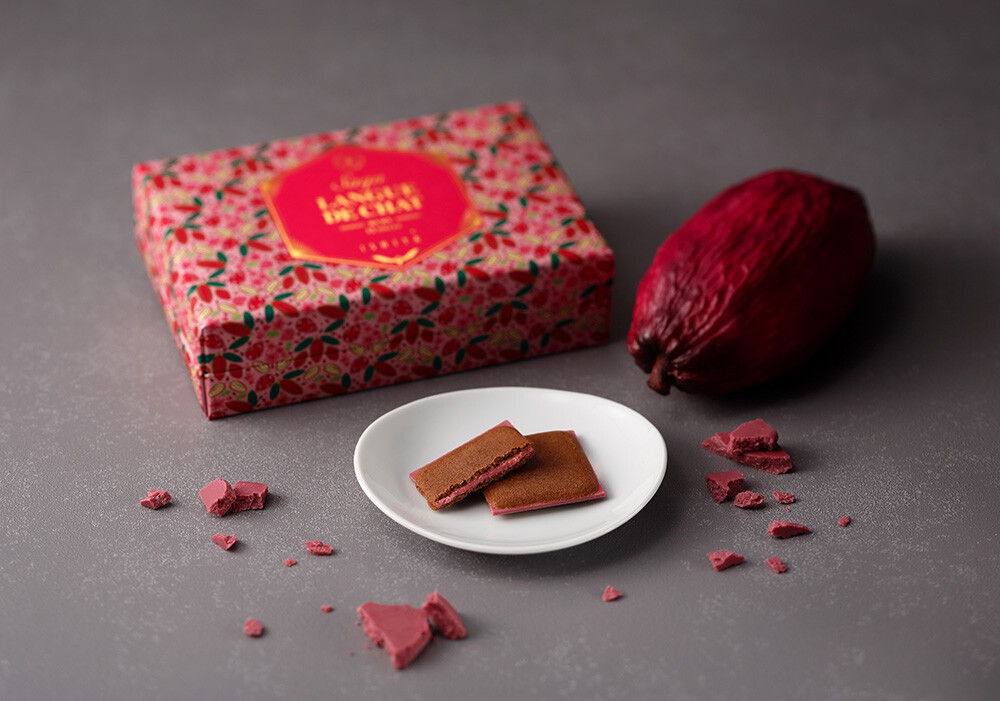 期間限定 ルビーチョコレートの「サク ラング・ド・シャ」
