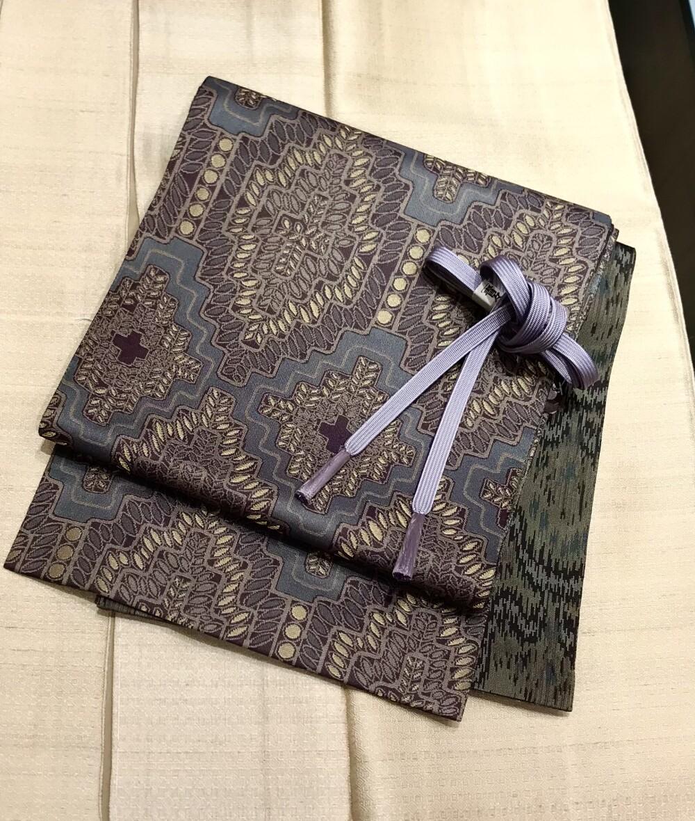 誉田屋源兵衛のリバーシブル袋帯と野蚕糸の着物