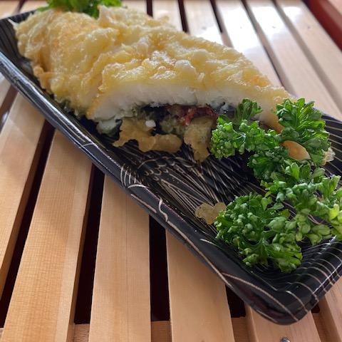 鱧の天ぷら大葉・梅肉