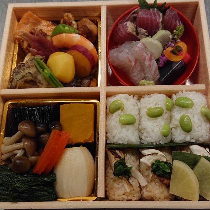 日本料理 湯木 期間限定 秋の味覚松茸の入ったお弁当 発売中