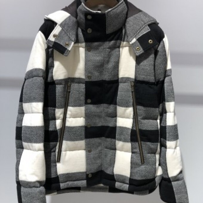 991japan Check Down Jacket