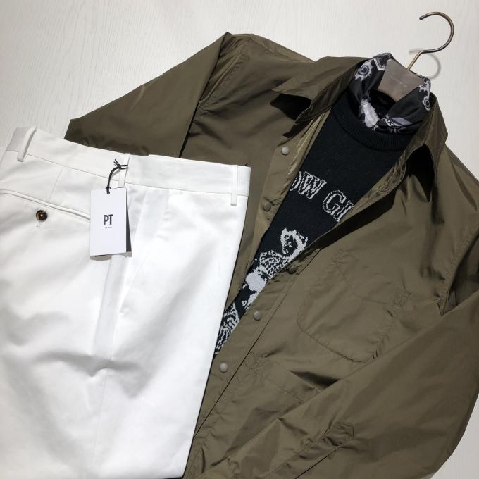 ASPESI ナイロンシャツジャケット