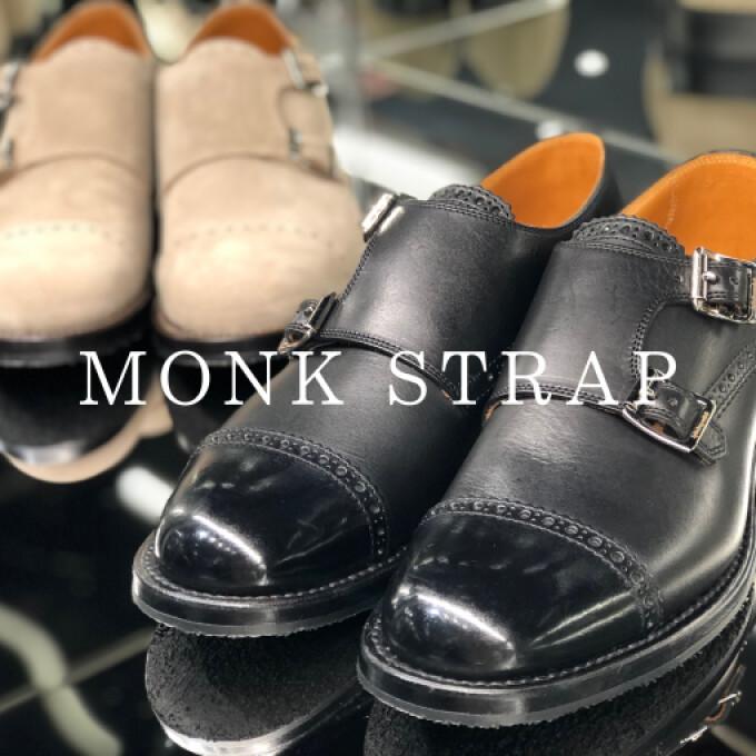 新型シューズ【MONK STRAP】入荷しました