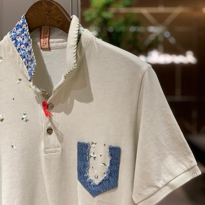 BOBハンドメイド刺繍ポロシャツ