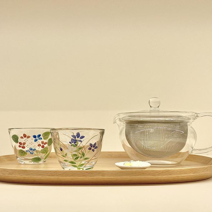 見た目も涼しい◎夏のガラス茶器のご紹介