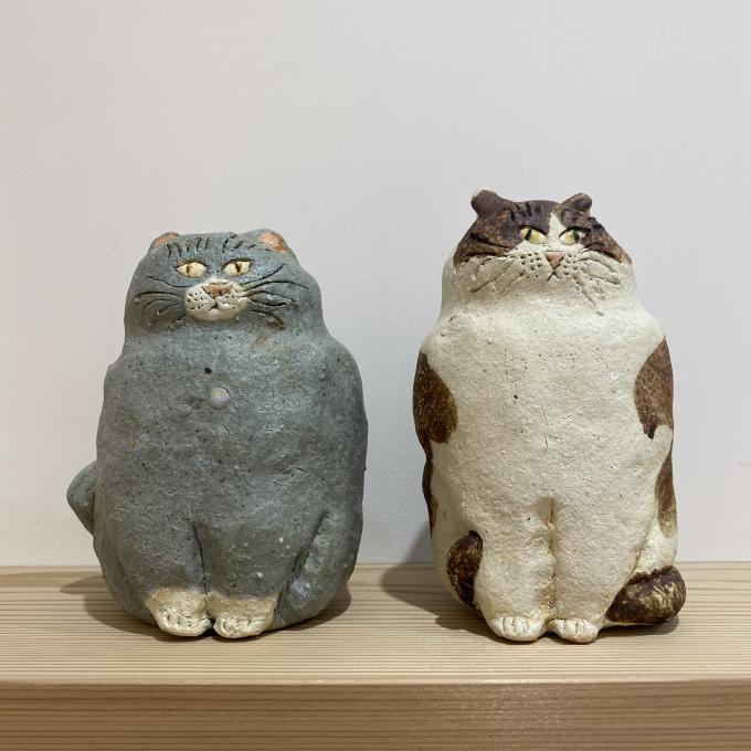 『猫になりたい』前川幸市 陶展