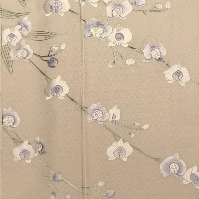 蘇州刺繍の付下げ 山口美術織物