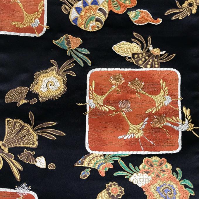 となみ織物永樂善五郎好み袋帯に人間国宝 中村勇二郎彫刻 江戸小紋