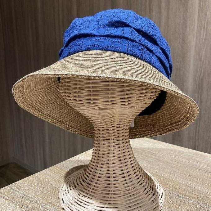日除け対策に可愛い帽子☺️