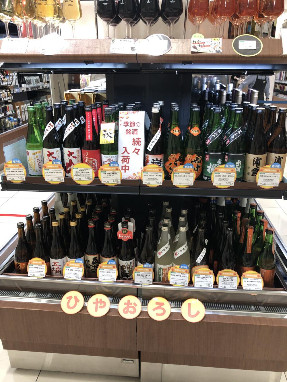 秋の日本酒「ひやおろし」が入荷しました🍶