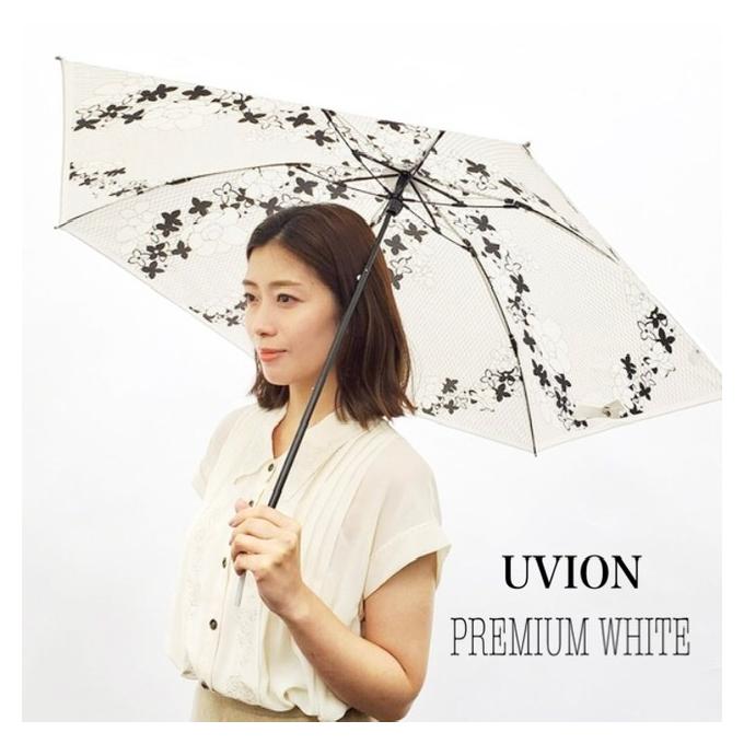 軽く涼しい日本製の晴雨兼用傘〜UVION プレミアムホワイト〜