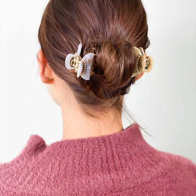 【アッカ】まとめ髪は簡単クリップスタイルで