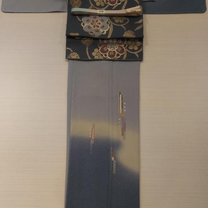 2万円シリーズ~刺繍の付下げに川島の帯~