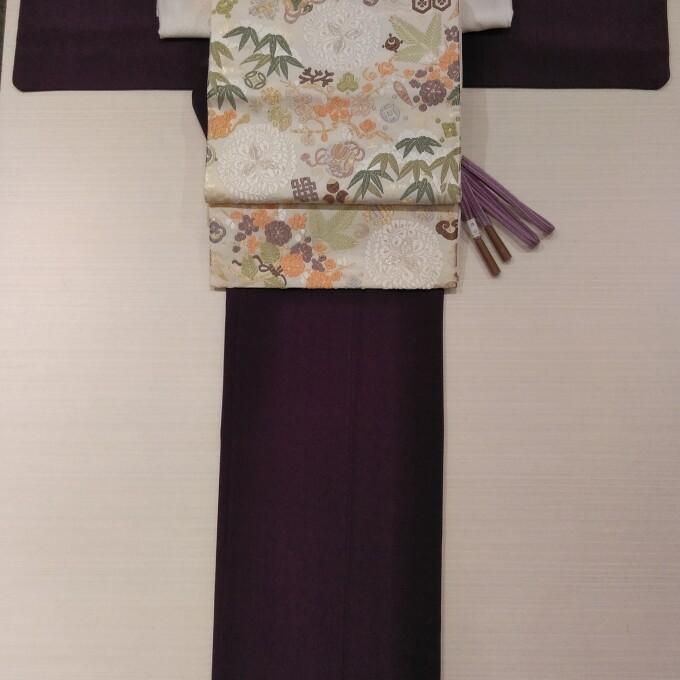 2万円シリーズ~上品な江戸小紋と唐織の帯~