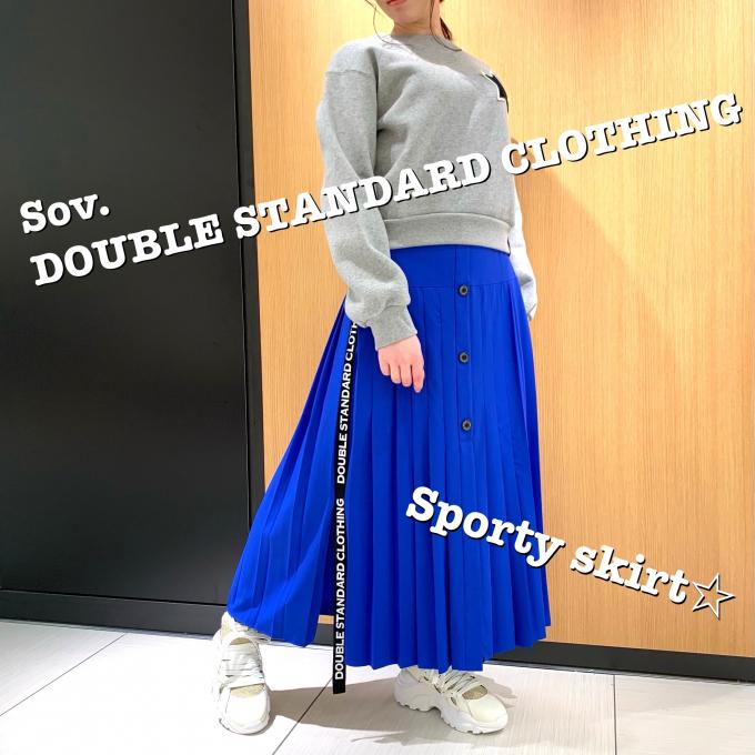 大人気!!ロゴテープ スポーティープリーツスカート☆