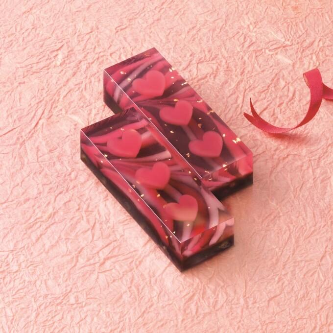 マーブル模様が美しい、チョコ×羊羹のハイブリッド和菓子!