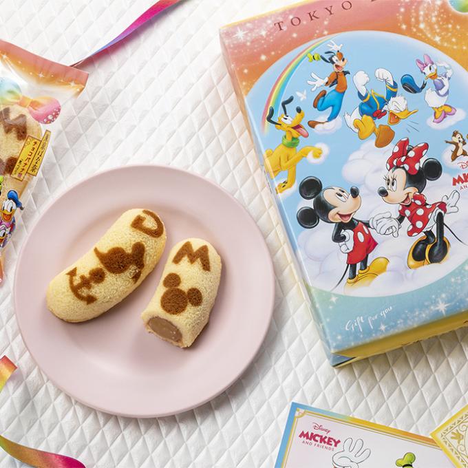 ミッキーマウスとかわいい仲間たちが東京ばな奈に!