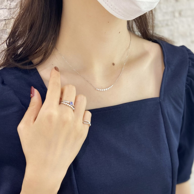"""【スタージュエリー】新作""""DIAMOND LINE NECKLACE """"のご紹介"""