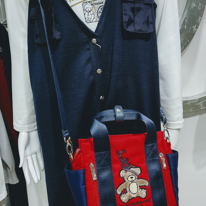 クマ柄 2Way Bag